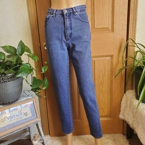 Vintage 80's Purple High rise skinny Mom Jeans